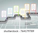 timeline business concept... | Shutterstock .eps vector #764179789