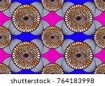textile fashion african print... | Shutterstock .eps vector #764183998
