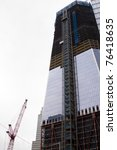 Small photo of NEW YORK - MAY 2: A new tower known as the Freedom Tower rises above the World Trade Center PATH train station on May 2, 2011 in New York City. Osama bin Laden was killed in Pakistan by US Seals the day before.