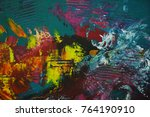 fragments of abstract paintings ... | Shutterstock . vector #764190910