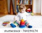 adorable cute beautiful little... | Shutterstock . vector #764194174
