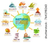 natural disasters infographics... | Shutterstock .eps vector #764198260