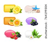 soap aroma bars realistic set... | Shutterstock .eps vector #764199304