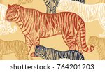 tiger. seamless pattern with...