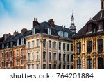 antique building view in old... | Shutterstock . vector #764201884