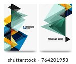 business brochure cover layout  ... | Shutterstock .eps vector #764201953