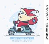 Little Cute Santa Claus Ride A...