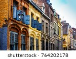 antique building view in old...   Shutterstock . vector #764202178