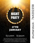 night party flyer template... | Shutterstock .eps vector #764202358