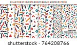 collection of bright colorful... | Shutterstock .eps vector #764208766