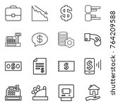 thin line icon set   portfolio  ... | Shutterstock .eps vector #764209588