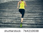 young fitness sporty woman... | Shutterstock . vector #764210038