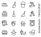 thin line icon set   iron ... | Shutterstock .eps vector #764212933