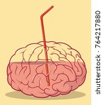 brain juice vector illustration.... | Shutterstock .eps vector #764217880