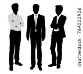 vector silhouettes of men... | Shutterstock .eps vector #764222926