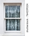 window with white wood trim and ... | Shutterstock . vector #764239324