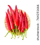 chili pepper isolated on a... | Shutterstock . vector #764251666
