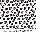 animal skin pattern in vector | Shutterstock .eps vector #764253223