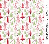 winter seamless christmas... | Shutterstock .eps vector #764260114