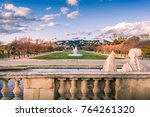 colors of autumn in the city... | Shutterstock . vector #764261320