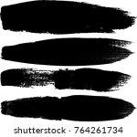 grunge paint stripe . vector... | Shutterstock .eps vector #764261734