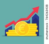 financial performance ... | Shutterstock .eps vector #764263438