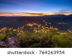 night view of baling town from... | Shutterstock . vector #764263954