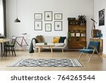 patterned carpet in bright... | Shutterstock . vector #764265544