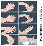 instructions for proper...   Shutterstock .eps vector #764266399