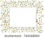 abstract background on a theme... | Shutterstock .eps vector #764268064