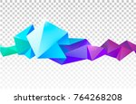 vector abstract colorful... | Shutterstock .eps vector #764268208