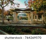 Stone Pillared Gazebo  With...
