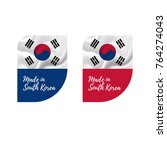 stickers made in south korea.... | Shutterstock .eps vector #764274043