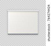 realistic blank empty vector... | Shutterstock .eps vector #764274424