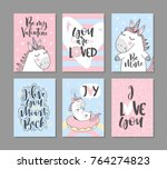 greeting cards with cute...