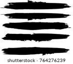 grunge paint stripe . vector... | Shutterstock .eps vector #764276239