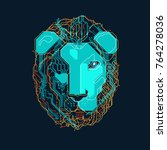 shape of lion head combined... | Shutterstock .eps vector #764278036