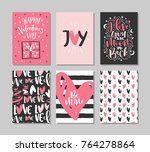 collection of valentine's day...   Shutterstock .eps vector #764278864