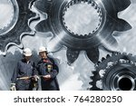 industry workers  engineers...   Shutterstock . vector #764280250