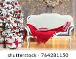 gorgeous christmas tree in...   Shutterstock . vector #764281150