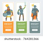 set of three colorful banners... | Shutterstock .eps vector #764281366