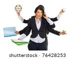 Busy Business People Holding...