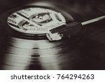 vinyl record and money | Shutterstock . vector #764294263