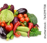 set vegetables isolated on... | Shutterstock . vector #764299708