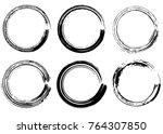 grunge vector circles. brush... | Shutterstock .eps vector #764307850