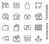 thin line icon set   shop... | Shutterstock .eps vector #764310400