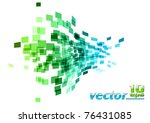 green and blue wave square | Shutterstock .eps vector #76431085