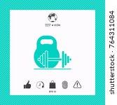 kettlebell and barbell icon | Shutterstock .eps vector #764311084