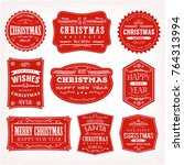 christmas frames  banners and... | Shutterstock .eps vector #764313994