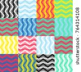 geometric colorful pattern....   Shutterstock .eps vector #764314108